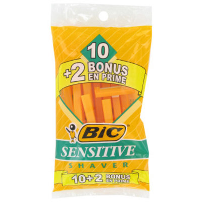 BIC Sensitive Single Blade Shaver, 10 ct