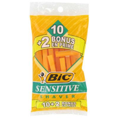 BIC Sensitive Single Blade Shaver, 10 ct