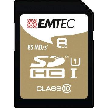Dexxxon Digital Storage Emtec - 8GB Sdhc Class 10 Memory Card - Black/gold