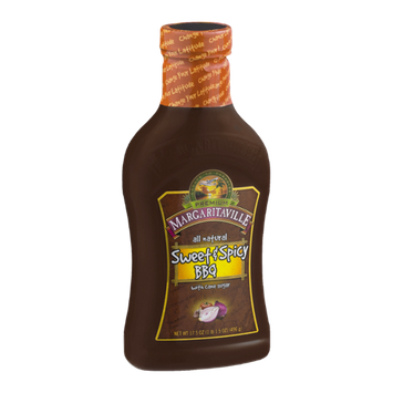 Premium Magaritaville All Natural Sweet & Spicy BBQ Sauce with Cane Sugar