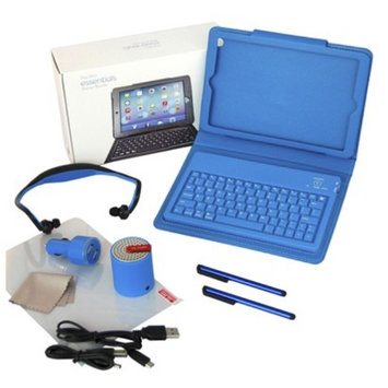Ecom Tablet Case With Integrated Keyboard Solutions 2 Go 9in Blue