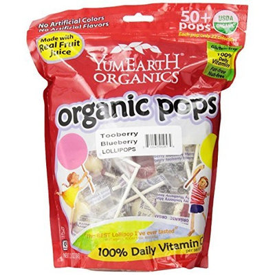 Yummyearth YumEarth Organic TooBerry Blueberry Lollipops, 12.3 Ounce Bag (Pack of 4)