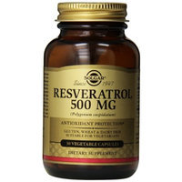 Solgar Resveratrol Vegetable Capsules, 500 mg, 30 Count