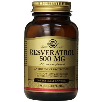 Solgar Resveratrol Vegetable Capsules, 500 mg, 30 Count