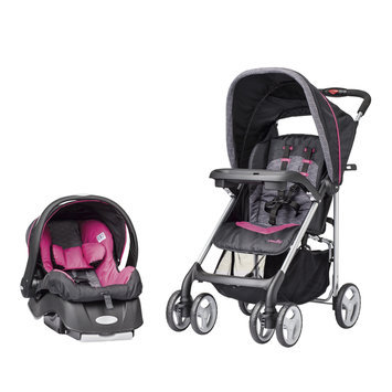 Evenflo Company Inc. Evenflo JourneyLite Travel System with Embrace in Pink Party