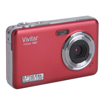 Vivitar T027 Compact Digital Camera - Red, Red