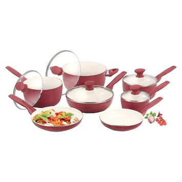 Green Pan GreenPan Rio 12pc Cookware Set - Burgundy
