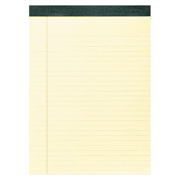 Roaring Spring Paper Products Roaring Spring Recycled Legal Pad, 8 1/2 x 11 3/4 Pad, 8 1/2 x 11 Sheets, 40/Pad, Canary, Dozen