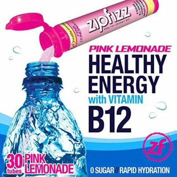 Zipfizz Pink Lemonade Healthy Energy Drink Mix - Transform Your Water Into a Healthy Energy Drink - 30 Pink Lemonade Tubes