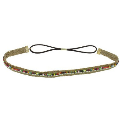 Women's Jute Headwrap with Gems and Beading - Multicolor