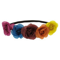 Women's Flower Headwrap - Multicolor