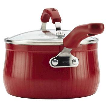 Farberware Nt Farberware New Traditions 2 qt Covered Saucepan - Red Scallop