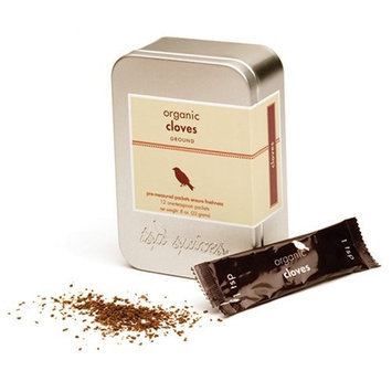Tsp Spices Ground Organic Cloves, 12 One-teaspoon Packets, .8-Ounce Tins (Pack of 3)