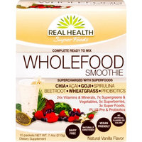 Real Health Super Foods Natural Vanilla Wholefood Smoothie Dietary Supplement Mix, 10 count, 7.4 oz