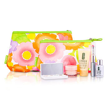 Clinique Travel Set DDML + Even Better + Lipstick + Mascara + Eyeshadow + Mini Bag + Bag Travel Set