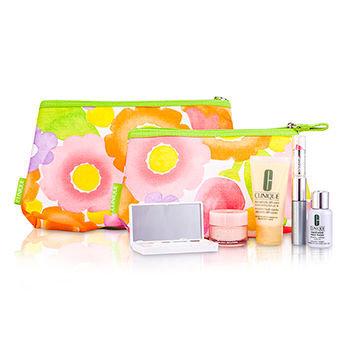 Clinique Travel Set DDML + Even Better + Lipstick + Mascara + Eyeshadow + Mini Bag + Bag Travel Set