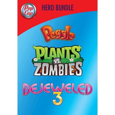 Electronic Arts PopCap Hero Bundle: Peggle, Plants Vs. Zombies, Bejeweled 3 - Electronic Software Download (PC)
