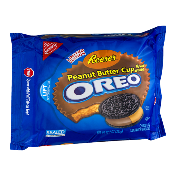 Nabisco Oreo Reese's Sandwich Cookies Peanut Butter