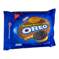 Nabisco Oreo Reese's Sandwich Cookies Peanut Butter