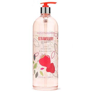 Simple Pleasures 2-in-1 Strawberry Splash Shower Gel & Bubble Bath