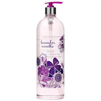 Simple Pleasures 2-in-1 Lavender Vanilla Shower Gel & Bubble Bath