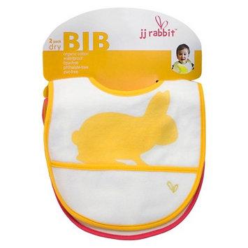 JJ Rabbit 2-pk. Organic dryBIB (Orange)