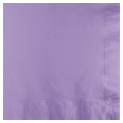 Creative Converting 3 Ply Lunch Napkins Luscious Lavender 500 Ct