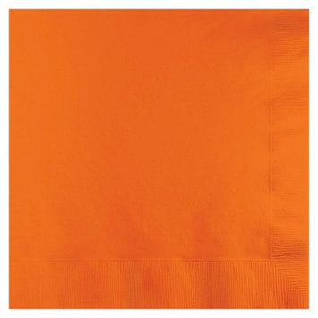 Creative Converting Lunch Paper Napkin - Sunkissed Orange (50 Count)