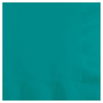 Creative Converting Lunch Paper Napkin - Tropical Teal (50 Count)