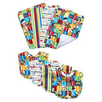 Trend Lab 8pc Dr. Seuss Alphabet Seuss Bouquet Bib and Burp Cloth Set