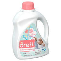 Dreft Stage 2: Active Baby HEC Liquid Laundry Detergent