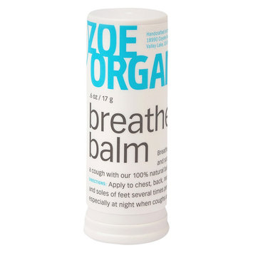 Zoe Organics Breath Balm For Cough Relief - .6 oz