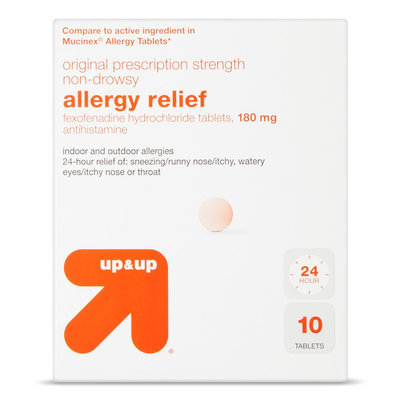 up & up 24 Hour Allergy Relief 180 mg Tablets - 10 Count