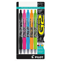 Pilot G2 Fashion Gel Ink Pen, Assorted Ink/Barrels (5 pack)