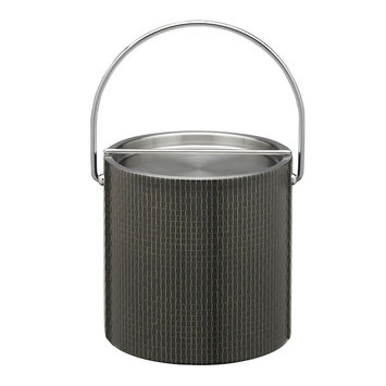 Cobblestone Brown 3qt Ice Bucket with Metal Cover