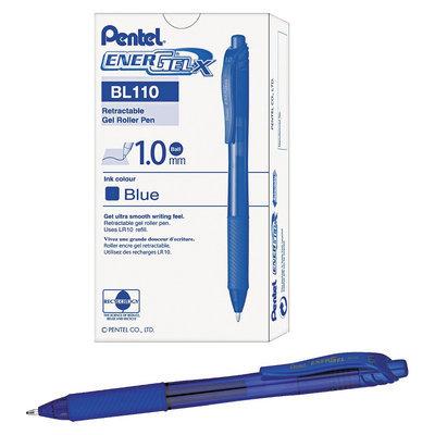Pentel EnerGel X Retractable Roller Gel Pen, Blue Ink, Bold