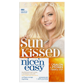 Nice N Easy Clairol Nice 'n Easy Permanent Hair Color SB2 Ultra Light Cool Summer Blonde 1 Kit
