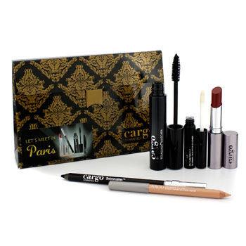 Cargo Let's Meet In Paris Holiday Kit: 1x Lip Color 1x Eye Pencil 1x Lip Primer 1x Lip Liner 1x Mascara 5pcs