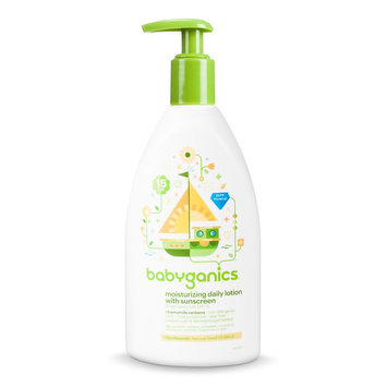 Babyganics Moisturizing Daily Lotion with Sunscreen, Chamomile Verbena - 11 floz