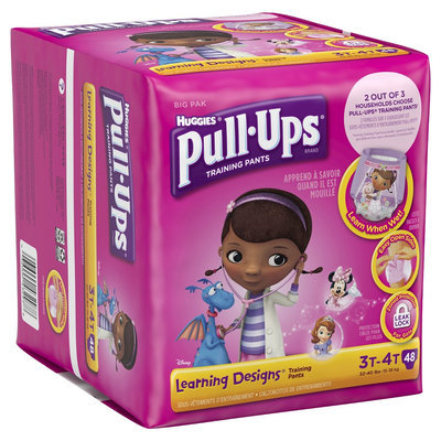 Huggies Pull-Ups Training Pants with Learning Designs for Girls - Size 3T-4T (48 Count)