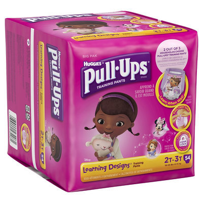 Huggies Pull-Ups Training Pants with Learning Designs for Girls - Size 2T-3T (54 Count)
