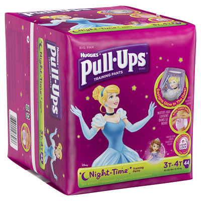 Pull-ups Night Time Training Pants Disney Glow in The Dark for Girls 3T-4T