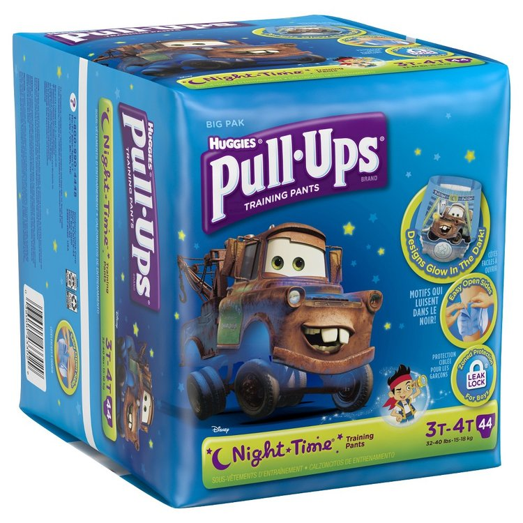 Huggies Pull-Ups Training Pants, Night*Time for Boys - Size 3T-4T (44 Count)
