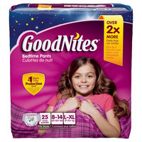 Huggies GoodNites Underwear for Girls, Big Pack - Size L/XL (25 Count)