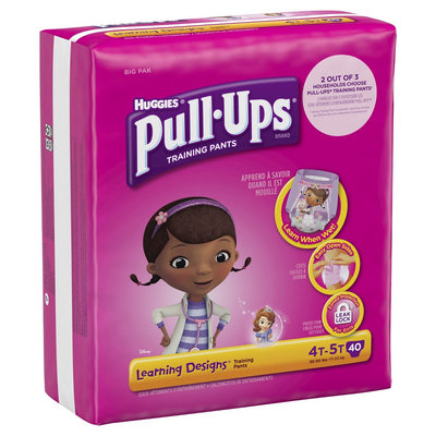 Huggies Pull-Ups Training Pants with Learning Designs for Girls - Size 4T-5T (40 Count)