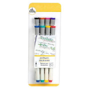 Ek Success EK Tools Journing Pens-Multicolored 8 Pk, Black/Orange/Pink/Purple/Blue/Green/Yellow And Red