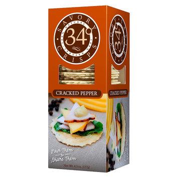 34 Degrees, Llc. 34 Degrees Pepper Multiseed Crackers 4.5 oz