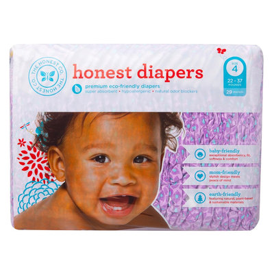 The Honest Company 11467 Girls Size 3 Leopard Diapers - 36 Count