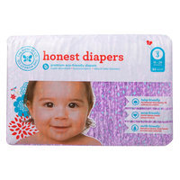 The Honest Company 11474 Girls Size 4 Leopard Diapers - 31 Count