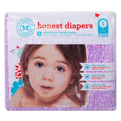 The Honest Company 11436 Girls Size N Leopard Diapers - 40 Count